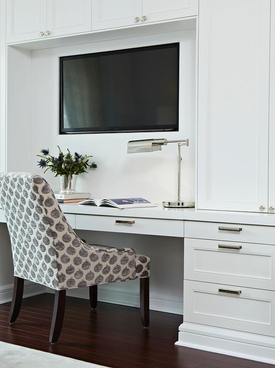 Built In Desk and TV Niche