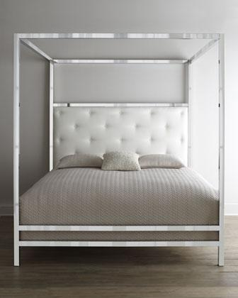 Dynasty Mirrored Four Poster Bed  Vielle and Frances