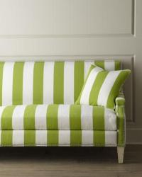 Green Striped Sofa Brown Ivory Green Striped Armchair For ...
