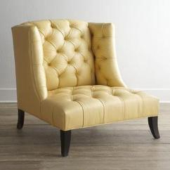 Swivel Chair Mustard Yellow Rocking Cushions Old Hickory Tannery Devine Leather Side And Balloon