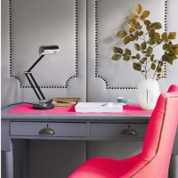 Pink and Gray Office - Contemporary - den/library/office ...