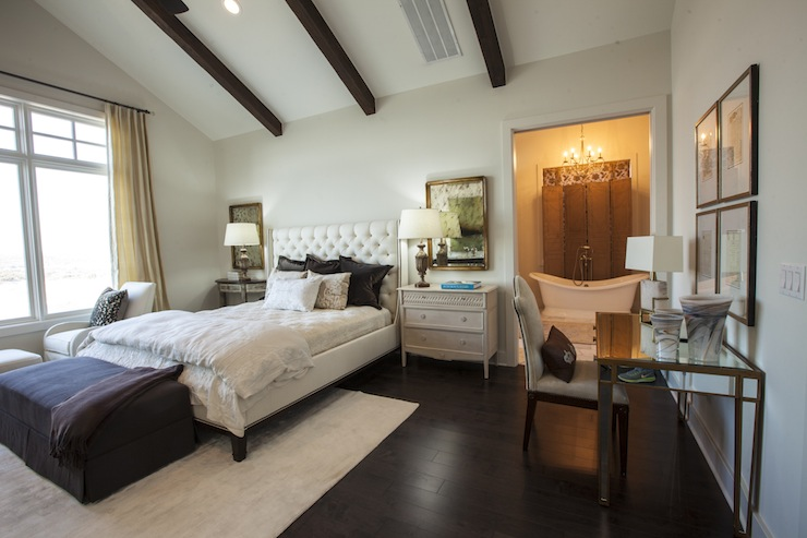 Mismatched Nightstands  Transitional Bedroom  Southern