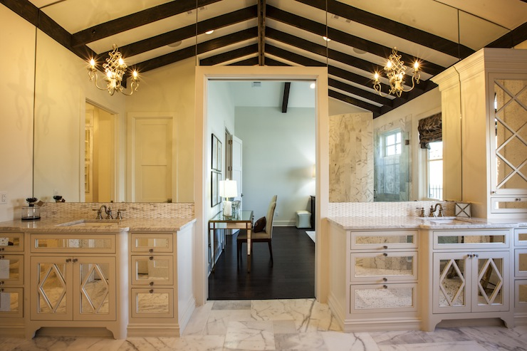 Mirrored Bathroom Vanity  Transitional  bathroom