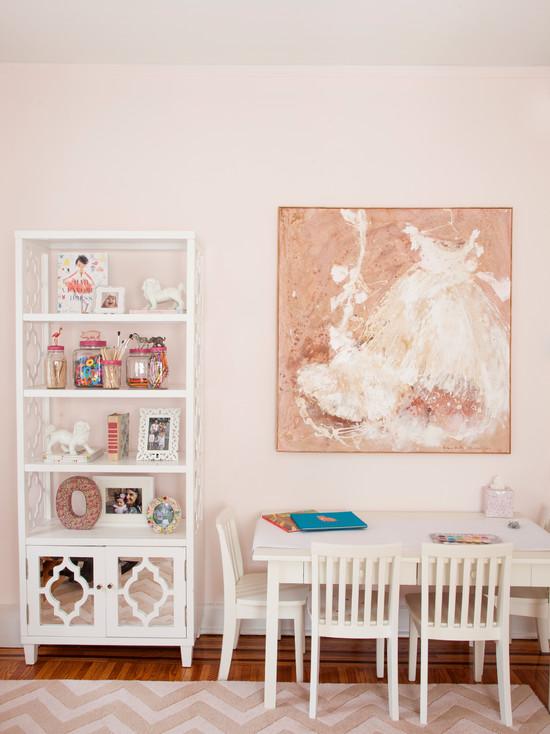 Quatrefoil Bookcase Contemporary Girl39s Room