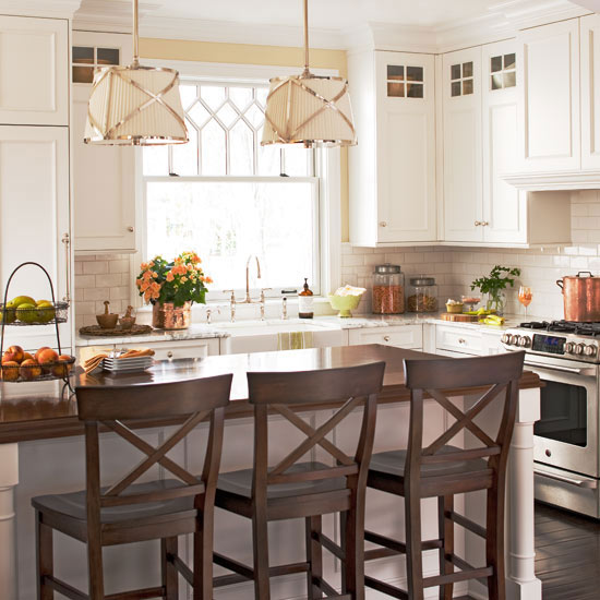 Off White Kitchen Cabinets  Traditional  kitchen  BHG