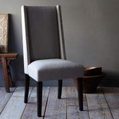 Gray Dining Chair With Wheels Willoughby Nailhead West Elm
