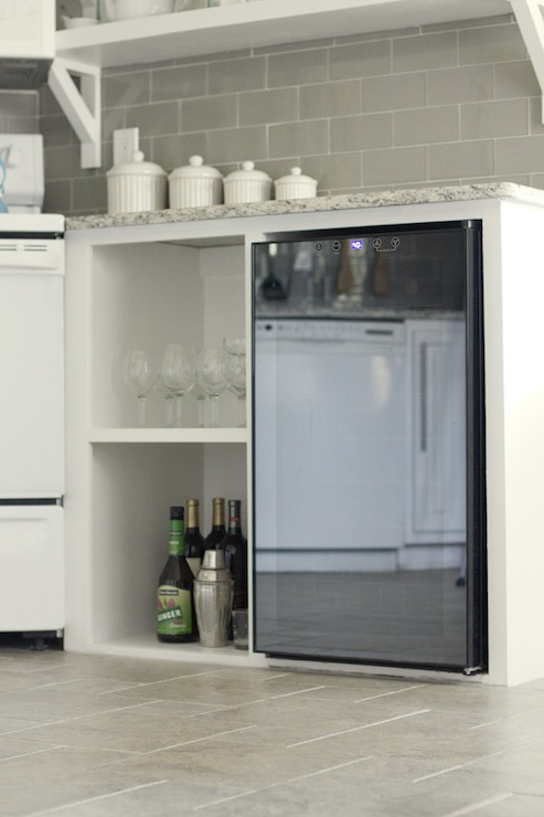 Mini Fridge  Transitional  kitchen  Jenna Sue Design