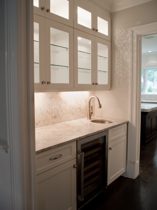 kitchen glass backsplash brown sink interior design inspiration photos by michelle winick design.