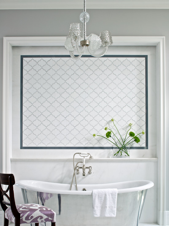 Arabesque Tile  Contemporary  bathroom  Northworks