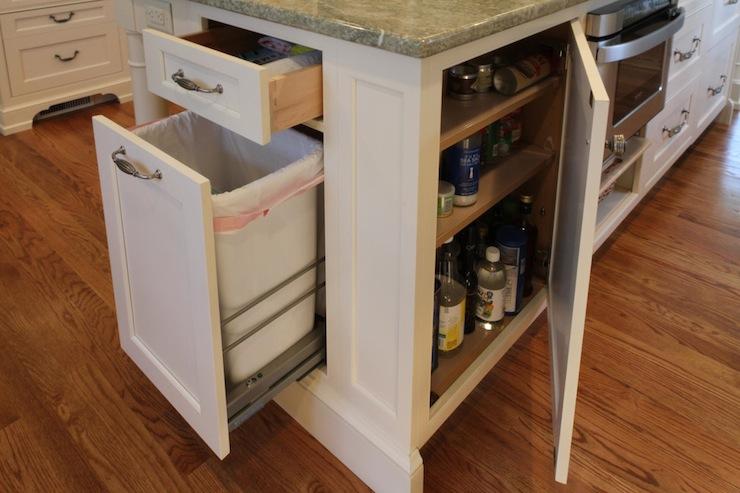 Kitchen Island Hidden Garbage Can  Transitional  kitchen