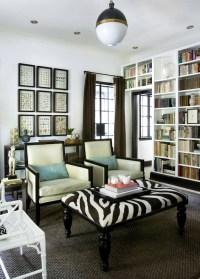 Zebra Ottoman - Transitional - living room - HammerSmith