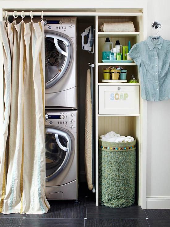 Closet Laundry Room  Contemporary  laundry room  BHG