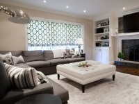 Linen Slipcovered Sectional - Transitional - living room ...