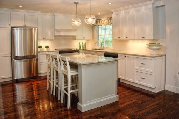 l shaped kitchen island with cabinets and design L Shaped Kitchen With Central Island Design Ideas