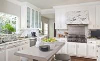 Marble Kitchen Hood - Transitional - kitchen - Sue Firestone