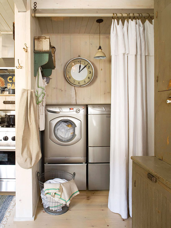 Rustic Laundry Room  Country  laundry room  BHG