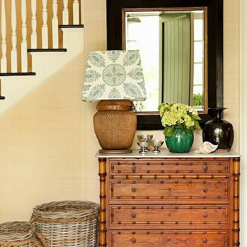 Green Chest Of Drawers With Silver Arch Mirror Cottage