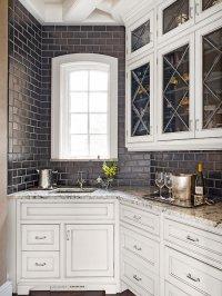 Black Subway Tile Backsplash - Transitional - kitchen - BHG