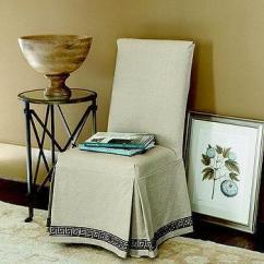Ballard Designs Dining Chair Slipcovers White Wicker Chairs Brooks Slipcovered - Pottery Barn
