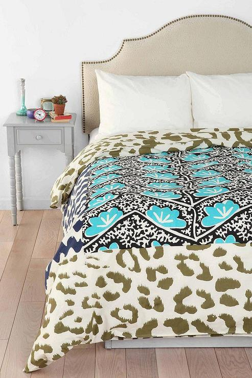 Magical Thinking Falling Leopard Print Duvet Cover I Urban Outfitters