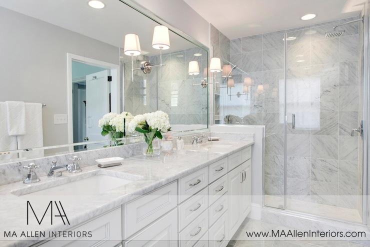 Thomas OBrien Bryant Sconce  Transitional  bathroom