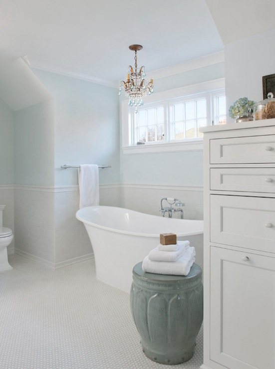 Powder Blue Bathroom  Traditional  Bathroom  Benjamin