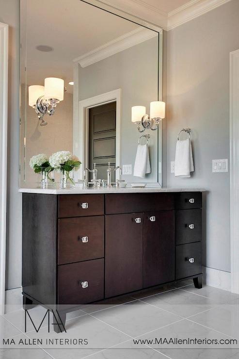 Espresso Vanity  Contemporary  bathroom  MA Allen Interiors