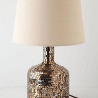 Amber Mosaic Floor Lamp
