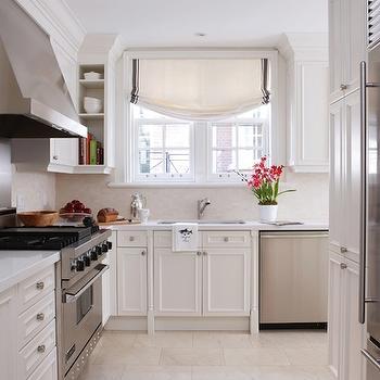 cream tile kitchen floor design ideas