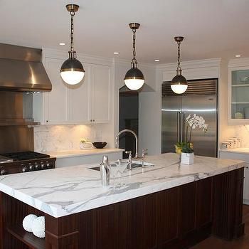 Thomas OBrien Hicks Pendants Transitional Kitchen