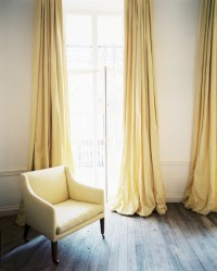 Yellow Drapes - Transitional - living room - Lonny Magazine