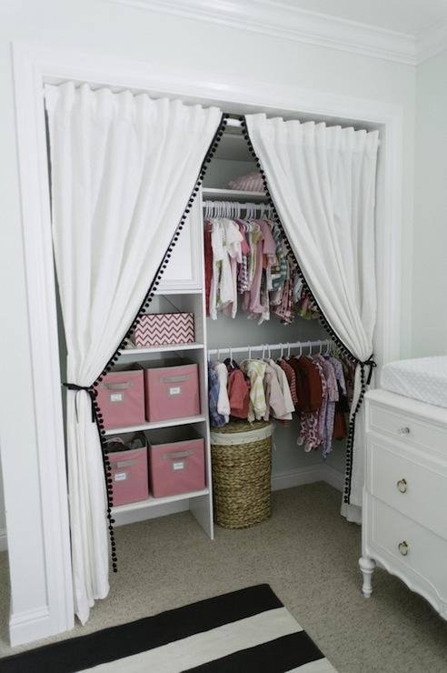 closet drapes design ideas