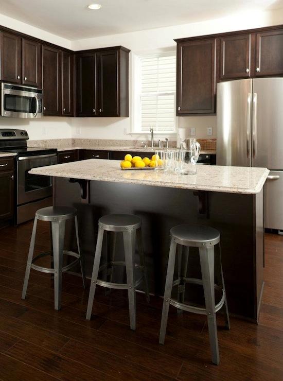 Espresso Cabinets Transitional Kitchen Sabal Homes SC