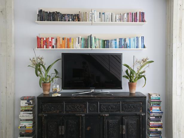 purple tufted sofa set stickley construction floating media cabinet - eclectic living room erinn v ...