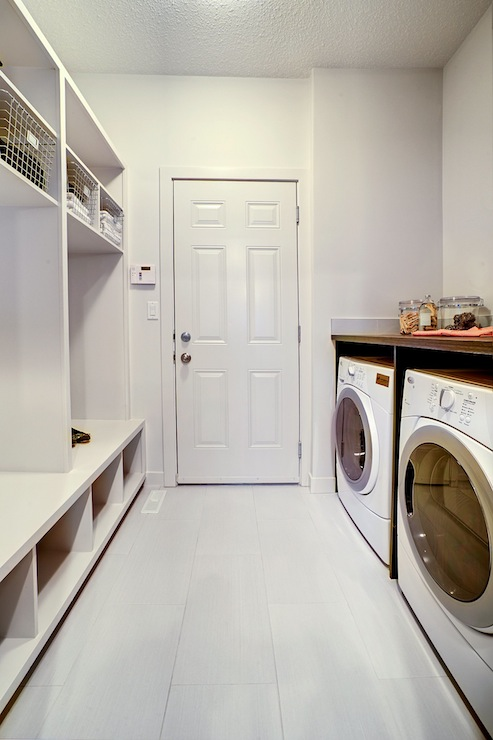 Combination Mudroom Laundry Room Design Ideas