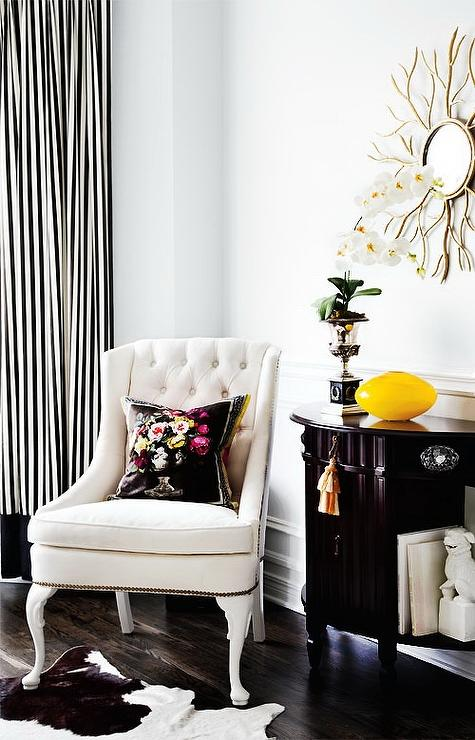 Black And White Striped Curtains Design Ideas