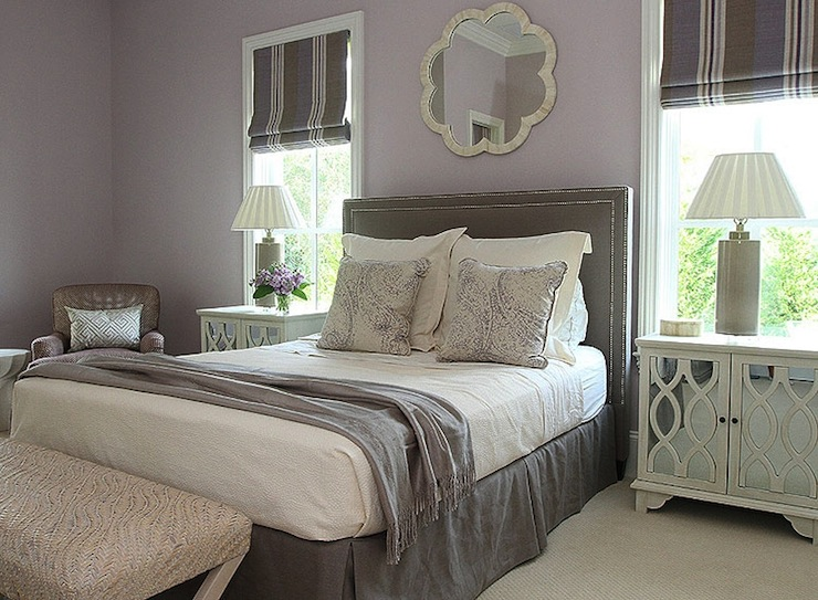 gray and purple bedroom