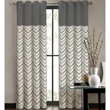 Colordrift Tribal Stripe GrommetTop Curtain Panel I jcpenney