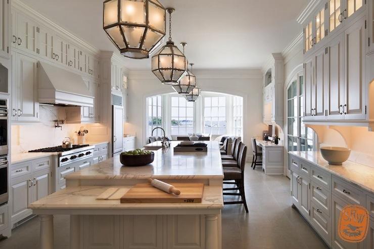 Long Kitchen Island  Transitional  kitchen  Shope Reno