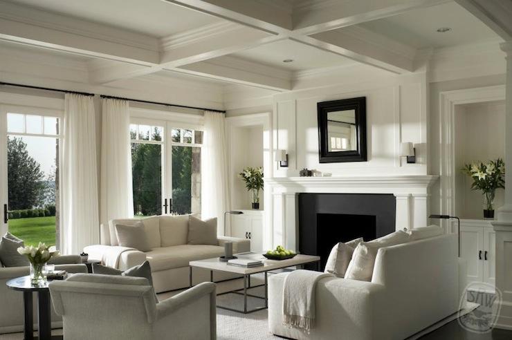 Modern Monochromatic Living Room Design Ideas