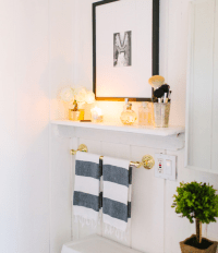 Towel Rack Over Toilet Design Ideas