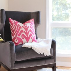 Velvet Chair Design Ashley Furniture Office Chairs Gray Wingback Contemporary Living Room Julie