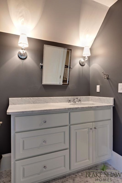 Rectangular Pivot Mirror  Contemporary  bathroom  Blake