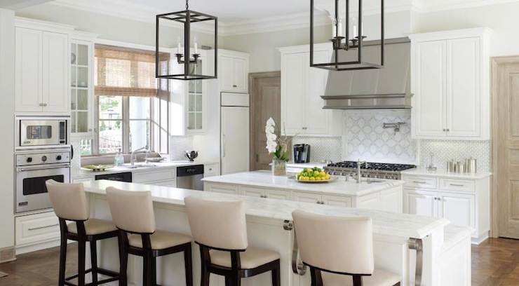 kitchen islands with seating and storage pull down faucets long island - transitional laura lee clark