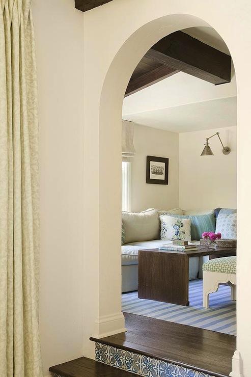 Arched Doorway  Mediterranean  living room  Christine