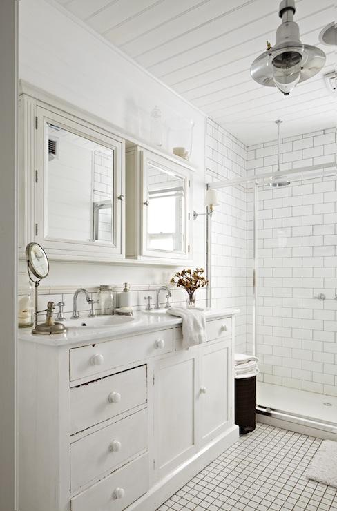 White Cottage Bathroom  Cottage  bathroom  Justin Bishop