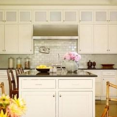 Countertops For Kitchens Water Efficient Kitchen Faucet Iridescent Backsplash - Cottage Christine ...