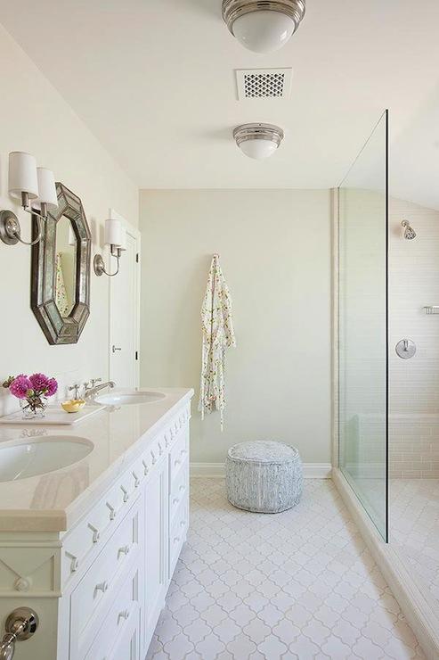 Arabesque Tile Shower  Transitional  bathroom  Harry Braswell Inc