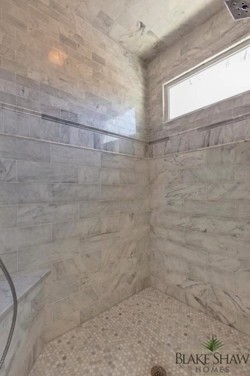 Marble Shower Design  Transitional  bathroom  Blake