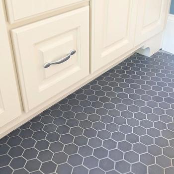 gray tile kitchen floor islands bar stools design ideas hex